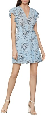 BCBGMAXAZRIA Floral-Print Ruffled Mini Dress