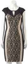 Jax Women's Colorblock Lace Sheath Dress