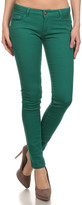 Couture Miss Kitty Women's Casual Pants K. - Kelly Green Low-Rise Skinny Jeans - Juniors