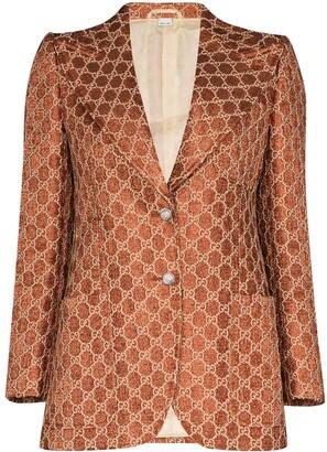 Gucci Jacquard monogram blazer