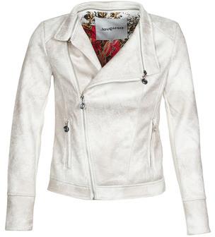 Desigual BROWARD women's Leather jacket in White