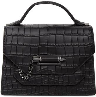 Mackage Black Croc Keeley Messenger Bag
