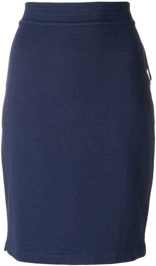 Humanoid fitted midi skirt