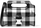 Christopher Kane Gingham Textured-leather Shoulder Bag - Black