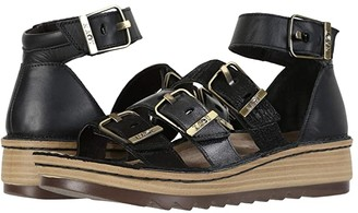 Naot Footwear Begonia (Pewter Leather/Gold Leather/Satin Gold Leather/Silver Luster) Women's Sandals
