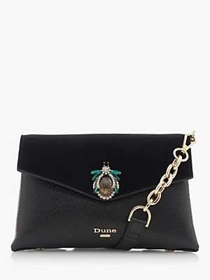Dune Essies Jewel Trim Cross Body Bag, Black