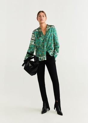MANGO Printed blouse