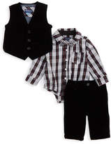 Andy & Evan Velvet Vest & Pants Set (Baby Boys)