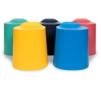 Luxor TailFin Plastic Stackable Stools 5 Pack