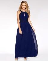 Quiz High Neck Embellished Maxi Dress