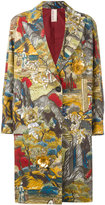 Antonio Marras printed single breasted coat - women - Cotton/Polyamide/Viscose/glass - 38