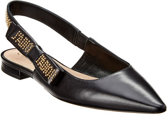 Christian Dior Studded Leather Slingback Flat