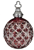 Waterford 2013 Annual Ruby Cased Ball Ornament