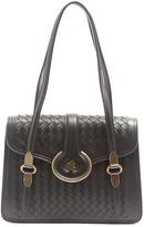 Bottega Veneta Mazzaluna intrecciato leather shoulder bag