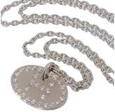 Hermes Eclipse 18K White Gold with Diamond Pendant Chain Necklace