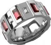 Jacques Lemans Jewellery Vedette S-R51I54 Swarovski Crystal Steel Ring Size O