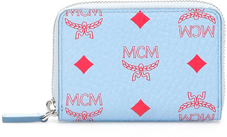 MCM Visetos Zip Mini Wallet/card Holder