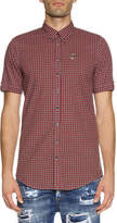 DSQUARED2 Check Short-Sleeve Woven Shirt, Red