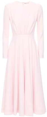 Emilia Wickstead Double Crepe Flared Midi Dress