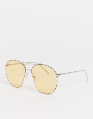 Jeepers Peepers aviator sunglasses in orange