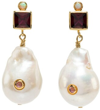 Anni Lu Pearl Drop Ruby Earring