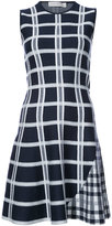 Victoria Beckham checked flared dress
