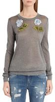 Dolce & Gabbana Women's Embellished Metallic Sweater