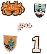 Topman Crab and Cali Iron On Badge Set*