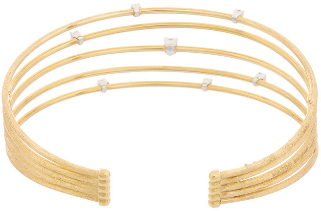 Marco Bicego Luce 18K Yellow Gold .28 Ct. Tw. Diamond Bangle