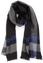 Hickey Freeman Men's Exploded Plaid Wool Scarf