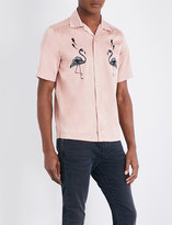Diesel S-westy-emb satin shirt