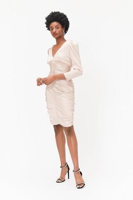 Coast Long Sleeve Satin Stretch Dress