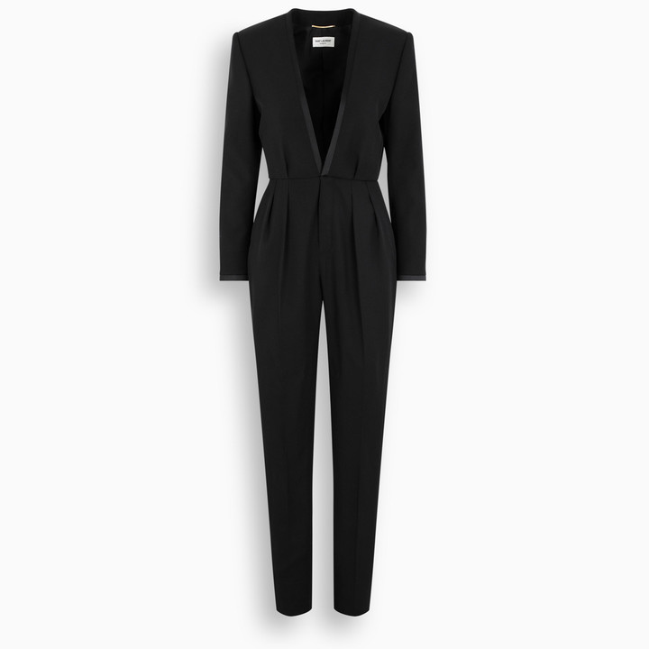Saint Laurent Black wool jumpsuit