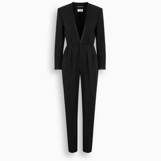 Saint Laurent Black wool jumpsuit
