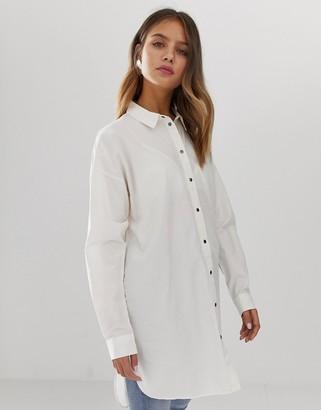 Noisy May longline shirt-White