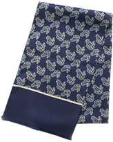 John Lewis Silk Paisley Dress Scarf, Navy/sand