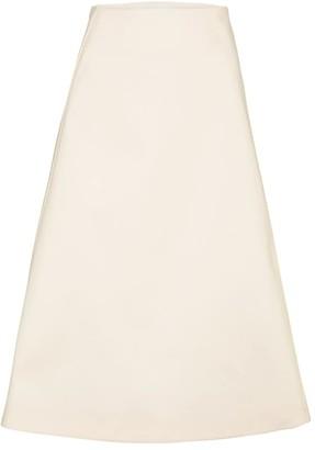Jil Sander Cotton pique midi skirt