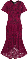 Rebecca Vallance Tiered Guipure Lace Midi Dress