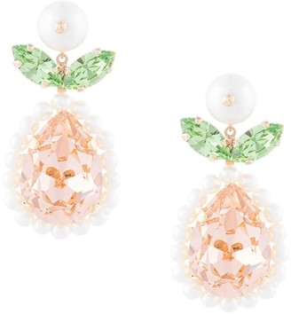 Simone Rocha Crystal Pendant Earrings