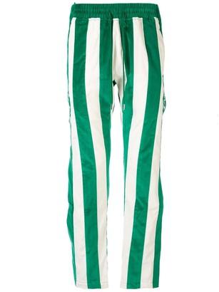 Just Don Striped Velvet Track Pants