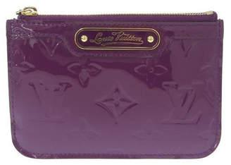 Louis Vuitton Purple Monogram Vernis Leather Pochette Coin Case