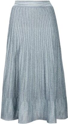 M Missoni Metallic Pleat Skirt