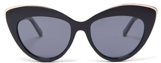 Le Specs Beautiful Stranger Cat-eye Sunglasses - Black Grey