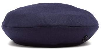 Maison Michel New Billy Wool Beret - Womens - Blue