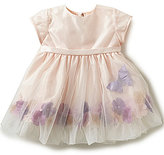 Joan Calabrese Baby Girls 6-24 Months Butterfly Flower Cap-Sleeve Bubble Dress
