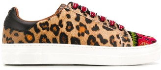 Etro Animal Lace-Up Sneakers