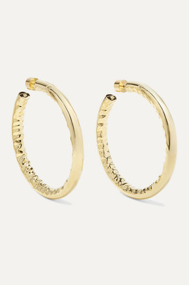 "Jennifer Fisher 2"" Jennifer Gold-plated Hoop Earrings - one size"
