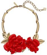 Oscar de la Renta Resin Flower Necklace Necklace