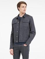 Calvin Klein Platinum Lightweight Rigid Denim Jacket
