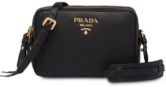 Prada Double-Zip Shoulder Bag